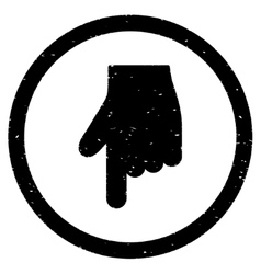 Index Finger Down Direction Icon Rubber Stamp vector image