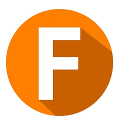 Letter F in orange circle vector