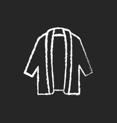 long cardigan chalk white icon on dark background vector image