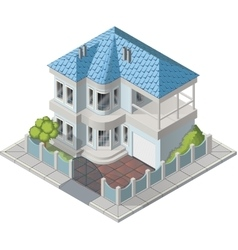 Luxury house isometric vector