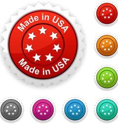 Made in USA award vector
