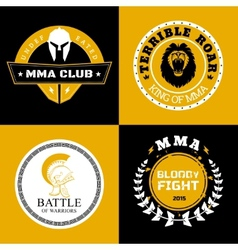 MMA Battle Logos or Badges Designs vector