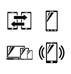 mobile gadgets simple related icons vector image
