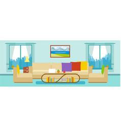 Modern apartment living room interior vector