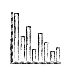monochrome blurred silhouette of column chart vector image
