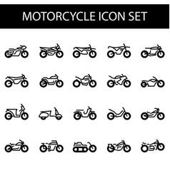 Motorcycle icon set vector