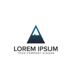 mountain minimal logo design concept template vector image