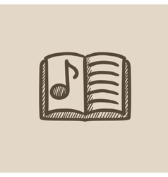 Music book sketch icon vector image