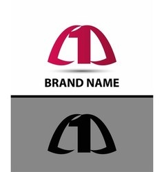 Number logo design Number one logo vector image