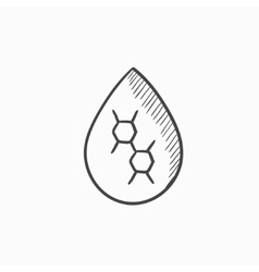 Oil drop sketch icon vector image