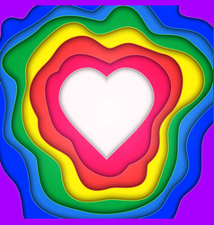 paper cut heart vector image