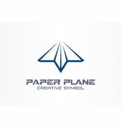 Paper plane creative messenger symbol concept vector