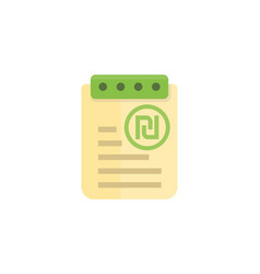 Payroll expense report icon vector