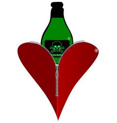Poison heart vector