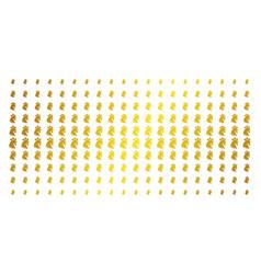 rooster head golden halftone matrix vector image