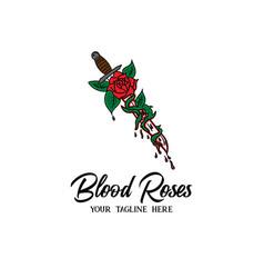 Rose design vector