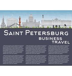 Saint Petersburg skyline vector image