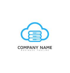 server cloud logo icon design vector image