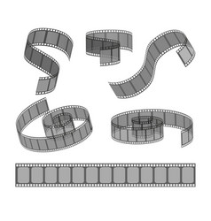 Set filmstrip rolls collection realistic vector
