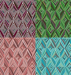 Set of 4 seamless pattern Modern stylish texture vector image
