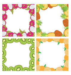 Set of square colored frames composed of delicious vector