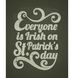 Stpatricks day chalkboard design vector