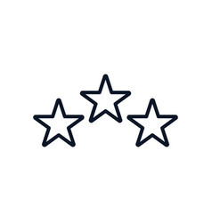 Three stars line style icon design vector