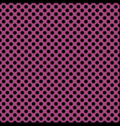 tile pattern with black polka dots on a pink vector image