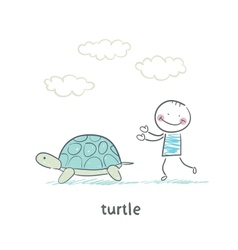 Tortoise and the people vector image