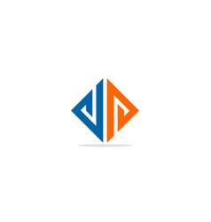 triangle shape line colored logo vector image