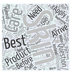 Which Is The Best Skin Care Product Word Cloud vector