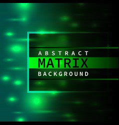 abstract green matrix background vector image