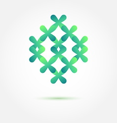 Abstract sybmol in green soft colors made of vector image vector image