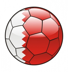 bahrain flag on soccer ball vector image vector image
