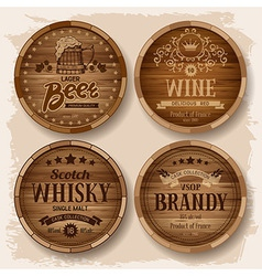 Barrel label vector image