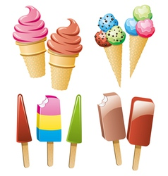 icecream and popsicles vector image vector image