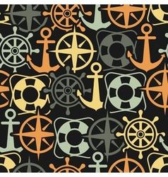Marine seamless pattern vector image vector image
