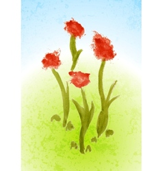 Watercolor floral bright background vector image