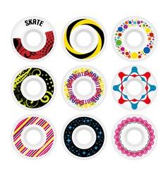 design skate wheels vector image