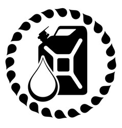gasoline logo design template jerry can of vector image
