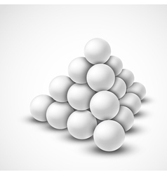 Pyramid from balls vector image