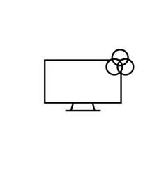 rgb colour monitor icon vector image
