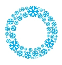 Snowflake wreath isolated vector image