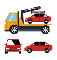 truck crane service icon vector image