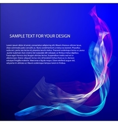 Abstract background with color waves on vector