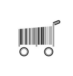 barcode shopping cart vector image vector image