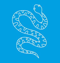 black writhing snake icon outline style vector image vector image