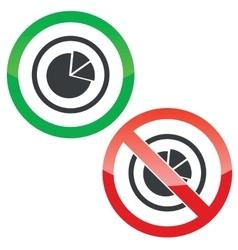 Diagram permission signs vector image vector image
