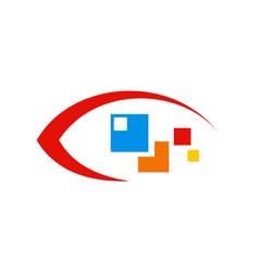 eye technology logo vector image vector image