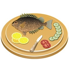 fish and vegetables vector image